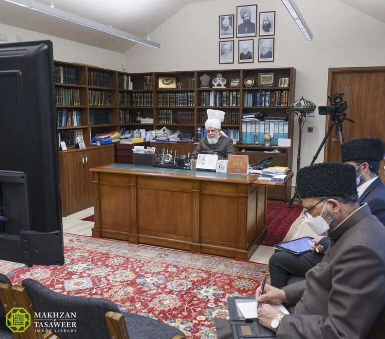 The foremost duty of a waqif-e-nau is to obey, follow and practice the commandments of Allah: Waqifeen-e-nau Bangladesh class with Huzoor