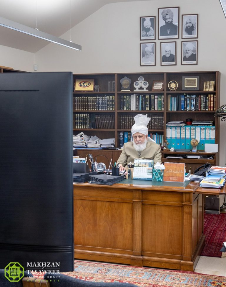 Arab or non-Arab, Ahmadi women must set good examples that make them stand out: Lajna Kababir, Haifa seek direction from Huzoor